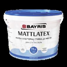 Фарба інтер'єрна для стін та стель «Mattlatex»(Матлатекс) 1.4л.