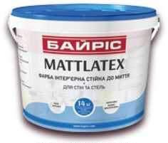 ФАРБА ІНТЕР'ЄРНА СТІЙКА ДО МИТТЯ «MATTLATEX»